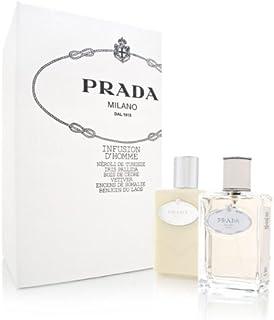 Prada Infusion D'Homme Set (Eau de Toilette Spray and Aftershave Balm)