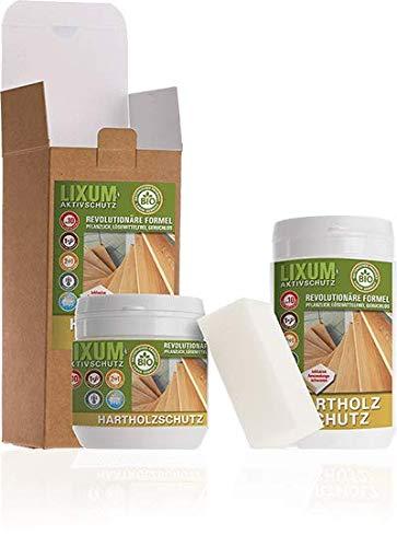 LIXUM Biologischer Holzschutz Hartholzschutz - Eiche, Gebindegröße:175 ml (ca.5m²), Farbe:farblos, inkl. Zubehör:Schwamm