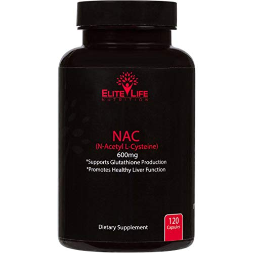 Pure NAC (N-Acetyl-L-Cysteine) 600mg - Best N-Acetyl Cysteine Supplement for Liver Support and Detox - USA Made L-Cysteine - Our Acetyl L Cysteine Supports Vital Glutathione Production - 120 Capsules