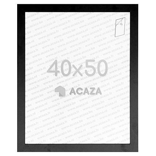 Acaza Cadre Photo 40x50 cm pour Photos et Posters, Bois MDF, Noir