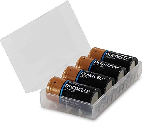 BVBA Duracell CR123A – Set di 4 batterie al litio ad alta potenza da 3 V, CR123A in scatola per batterie