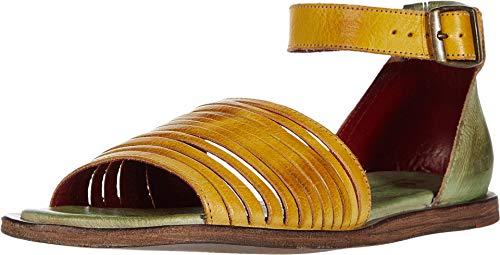 Bed Stu Women's Lilia Leather Sandal (LEMON/PISTACHIO RUSTIC, numeric_8)