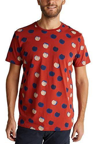 Esprit 070ee2k320 Camiseta, 805/terracota, M para Hombre