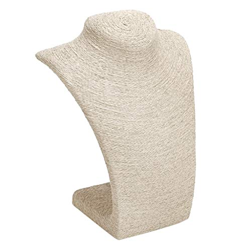 Preisvergleich Produktbild Homyl Schaufensterpuppe Schmuckständer Büste zum Halsketten Anhänger Ständer Schmuck Display - Beige S