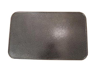 Kaminoflam/Platte unter dem Ofen/Bodenblech für Kaminofen/Funkenschutzplatte Kamin/Kaminblech Boden/Kaminbodenplatte für Ofen/Kaminplatte Funkenschutz (50 x 80 cm, altes Silber)