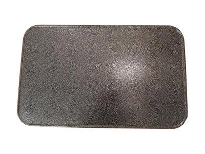 Kaminoflam/plaat onder de kachel/bodemplaat voor kachel/vonkenbeschermplaat open haard/schoorsteenplaat bodem/schoorsteenvloerplaat voor oven/schoorsteenplaat vonkenbescherming 50 x 80 cm Oud zilver.
