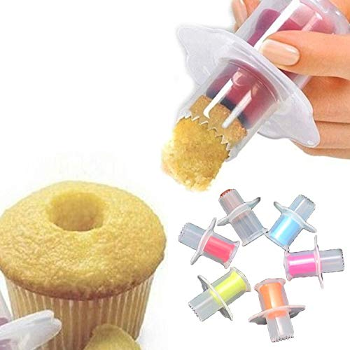 LIXUDECO Cortador de pastel DIY Confitería Herramientas para Pastel Core Remover Pasteles Cupcake Cake Decoración Herramientas para hornear Plato de galletas Cortador