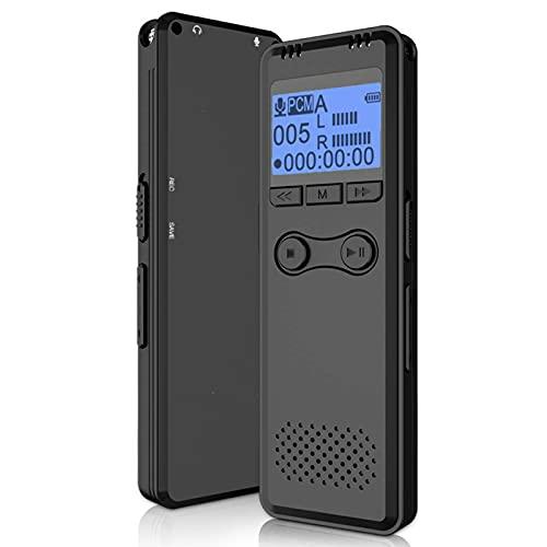 8G Grabadora de voz digital, Mini dictáfono portátil para la reunión de entrevista de conferencias, Grabación de tiempo activada por voz de un toque USB