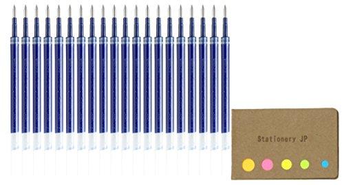 Uni-Ball UMR-85N Refills for Gel Ink Ballpoint Pen, 0.5mm, Blue Ink, 20-Pack, Sticky Notes Value Set