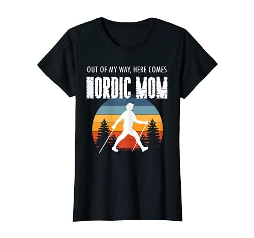Donna Idea regalo mamma mamma 'Nordic Mom', sport nordic walking Maglietta