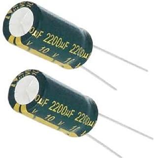 10 pcs Philips condensateur 2200uF 16 V AXIAL électrolytique Aluminium Conduit 9323