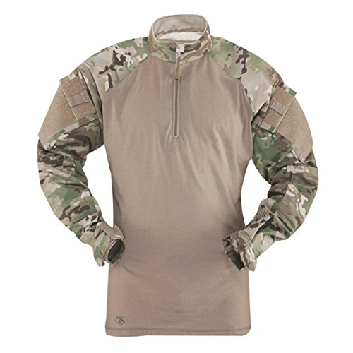 Tru-Spec T.R.U 1/4 Zip Combat Shirt Chemise, Multicam/Coyote, XXL (Lungo) Homme