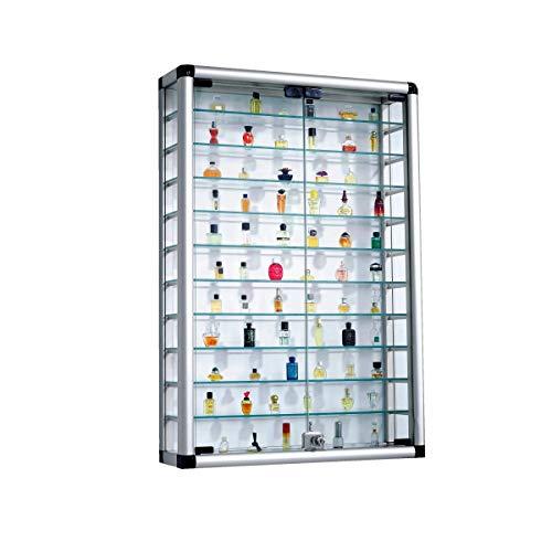 Pureday Vetrina Collezione in Alluminio e Vetro richiudibile 60 x 89cm