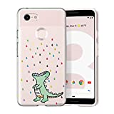 Unov Case Compatible with Pixel 3 Case Clear with Pattern