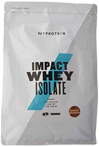 Myprotein Impact Whey Isolate Protein Powder, Gluten Free Protein Powder, Muscle Mass Protein Powder,Dietary Supplement for Weight Loss, GMO & Soy Free, Whey Protein Powder, Chocolate Smooth 2.2 Lbs