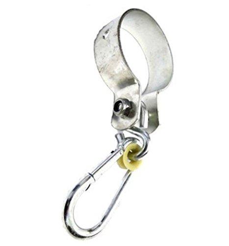 Manchethaken Ø 80 mm, schommelhaak, schommelklemmen, deurhaak met karabijnhaak, verzinkt