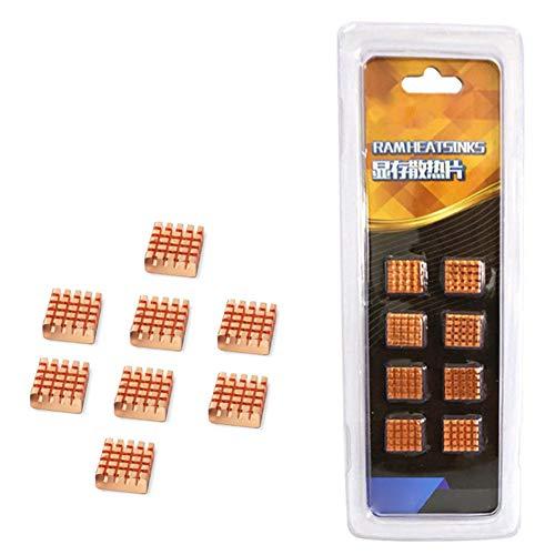 Harwls Copper Computer Cooler Heatsink Memory Radiator Accessoires voor motorfiets
