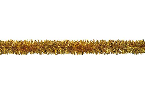 CC Home Furnishings 25' Gold Embossed Contemporary Decorative Party Twist Garland