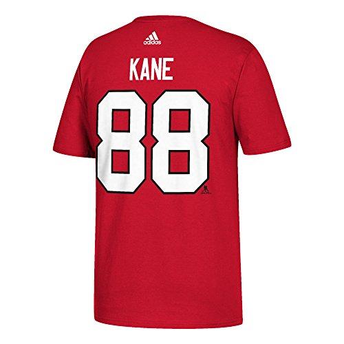 NHL T-Shirt Chicago Blackhawks Patrick Kane #88 rot Logo Eishockey (XX-Large)