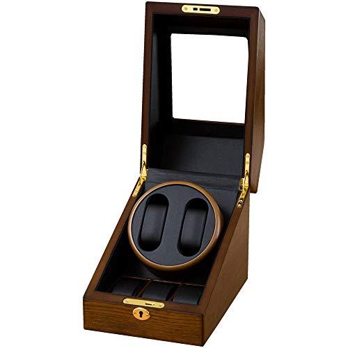 ベルソス 【7色から選べる】 ワインディングマシーン 2本巻き 静音設計 収納BOX付き (木目調)