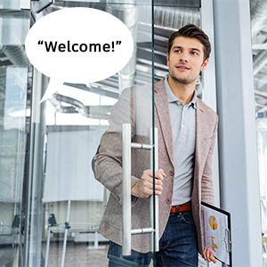 Entry Alert Tradeshows Door Greeter Recordable Motion Activated Voice Player with Built-in Microphone Point of Sale Advertising Daily Reminders Perfect for Independent Living Exhibits