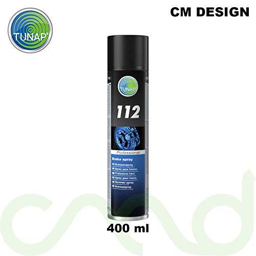 TUNAP 112 - Spray professionale per freni auto, 400 ml, protezione freni, protezione dei freni, protezione dalla corrosione, senza metallo