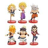 6Pcs / Cartoon Anime Game Dragon Ball Z Figuras De Anime Serie Wcf Un Conjunto De 6 Colecciones De F...