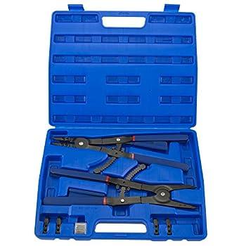 Hiltex 02016 16  Snap Ring Plier Set 2 Piece | External and Internal Pliers | Straight 45° 90° Tips