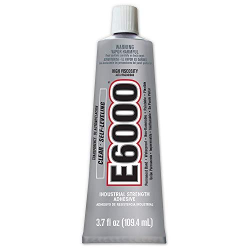 E6000 High Viscosity Adhesive, 3.7 Fluid Ounces, 1 Pack, Clear