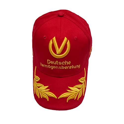 GAOXUQIANG Weizen Sticken Baseball Cap für Männer Frauen,Red,L