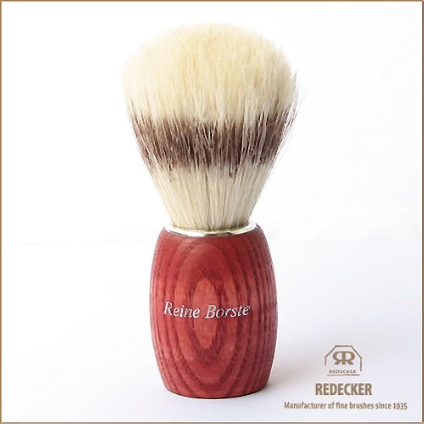 差別的部分的パキスタン[REDECKER/レデッカー]シェービングブラシ(白豚毛)/RED