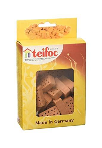 Teifoc T906601 Unbekannt Eichsfelder Technik eitech Gmb TEI906601 Steinbaukästen Konstruktionsspielzeug, rot, Multi Color, Backstein-Rot-32 stück