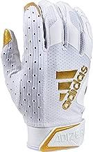 Adizero 9.0 Receiver's Gloves White/Metalic Gold, Large