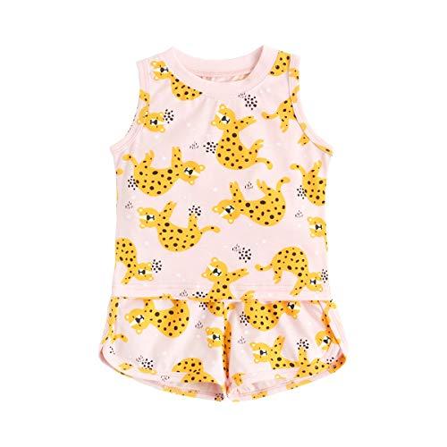 UMore Conjuntos de ropa de bebé Sin mangas Algodón Infantil Tops + Fondos Verano Casual Linda