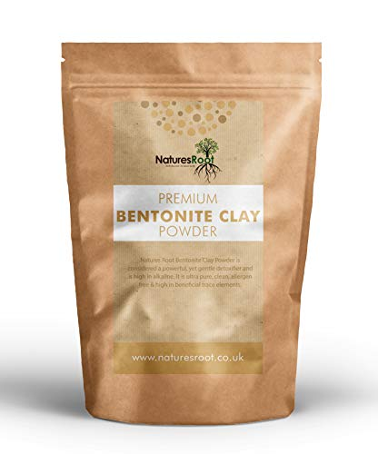 Natures Root Natural Bentonite Clay Powder 1kg - Remove Excessive Oil | Indian Healing Clay for Detoxifying and Rejuvenating Skin & Hair
