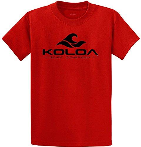 Koloa Surf Classic Wave Logo Cotton T-Shirt 4X-Large Tall-4XLT,Red/b