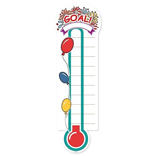 Grote kleurrijke Fundraiser Thermometer Matt zelfklevende Vinyl Sticker, Office Muursticker, Liefdadigheidsdoelen, fondsenwerving Ideeën