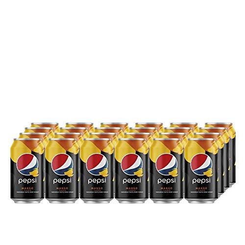 Pepsi Cola Mango (24 x 330ml) Erfrischende Pepsi Cola mit Mangogeschmack ZERO SUGAR