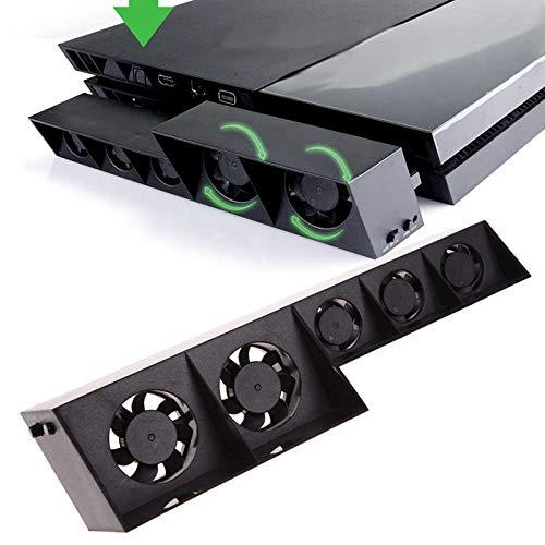 Ventilador de refrigeración para PS4, USB externo Cooler 5 Ventilador Turbo Control de temperatura Ventiladores de refrigeración para consola de juegos PS4