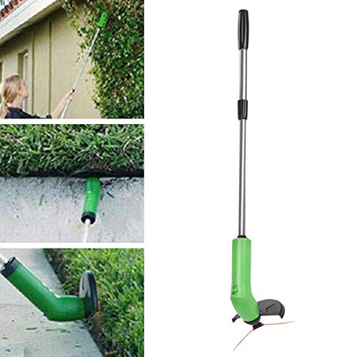 Affordable N/Y Telescopic Cordless String Trimmer Edger Handheld Grass Trimmer Grass Trimming Tool f...
