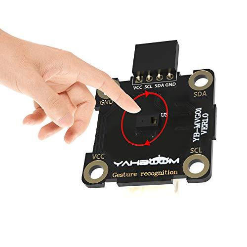 Yahboom Gestenerkennungsmodul PAJ7620U2 Sensormodul kompatibel mit Arduino Raspberry Pi Intelligente Näherungserkennung durch 9 Arten von Gesten