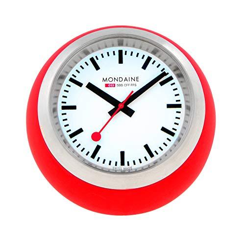 Mondaine Reloj Mesa analogico de Cuarzo en Color Rojo,A660.30335.16SBC, 60 MM