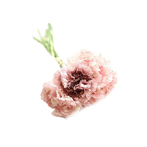 Fgyhty Artificial de Flores de Seda Clavel 6 Cabezas/Ramo por Ramo, Ramo Artificial Clavel, decoración casera del…