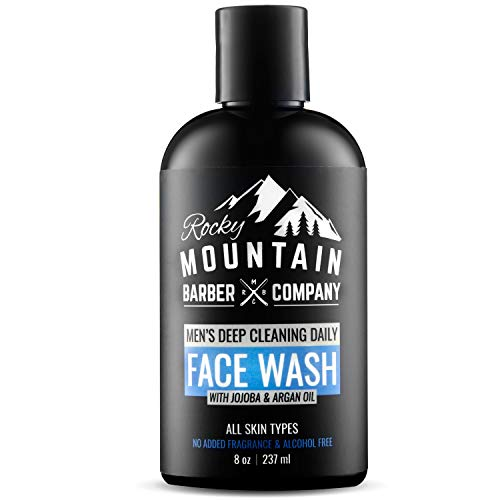 Face Wash Cleanser For Men - For Dry, Oily, Acne Prone Skin with Natural Sensitive Formula, Unscented for All Skin Types