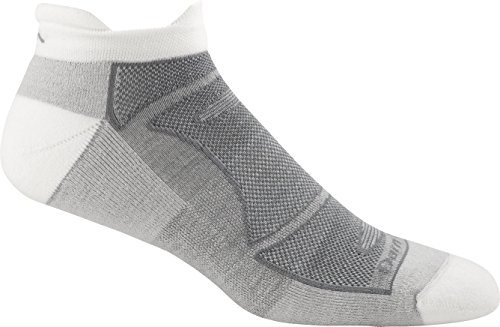 Darn Tough Men's No-Show Light Cushion Athletic Socks, ( Style 1722 ) - 6 Pack White/Gray, Large