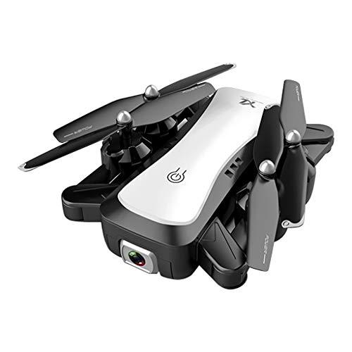 Bascar - Dron cuadricóptero teledirigido S36 2,4 G WiFi FPV 5 MP 1080 P HD Dual Cámara Plegable Optische Flow RC cuadricóptero por inducción de Gravedad 45 ° Cámara de emisora Ajustable, Blanco