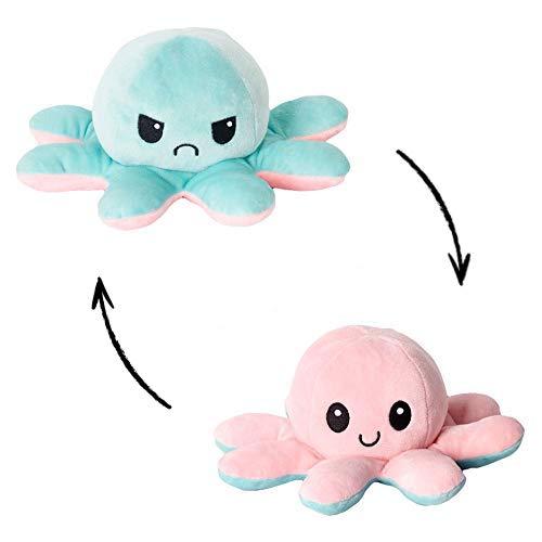Peluche di Polpo Reversibile, Simpatica Bambola di Polpo a Doppia Faccia, Polpo Creativo appositamente Progettato per i Bambini