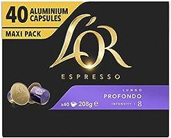 L'OR Espresso Koffiecups Lungo Profondo (160 Lungo Koffie Capsules, Geschikt voor Nespresso* Koffiemachines, Intensiteit...