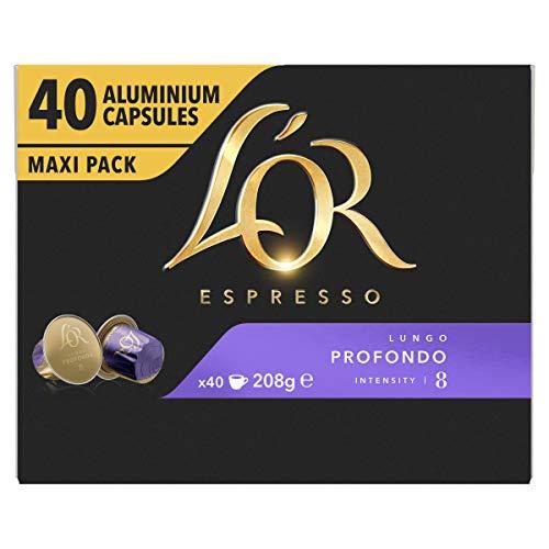 L'OR Espresso Lungo Profondo Koffiecups, 4 x 40 Cups