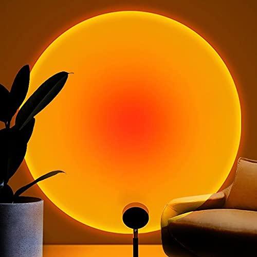 Balkwan Sunset Lamp Projection Rotation Rainbow Projection Lamp Led Romantic Visual Led Light...